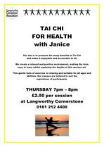 Tai Chi Thursday evening